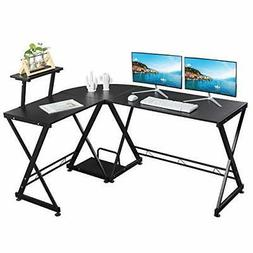 GreenForest L Shaped Office Computer Corner Gaming Desk with