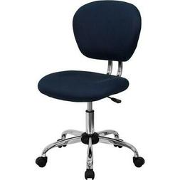 Flash Furniture Mid-Back Navy Mesh Swivel Task Chair with Ch