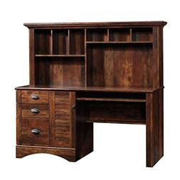 Sauder 420475 Harbor View Computer Desk W/Hutch, Curado Cher