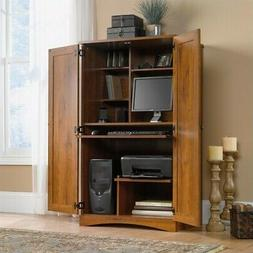 Harvest Mill Computer Armoire in Abbey Oak Finish