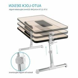 Height Adjustable Laptop Table Computer Desk Sofa Bed Stand