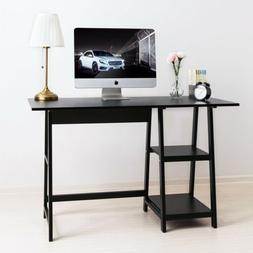 PC Computer Desk Workstation Study Writing Table 2-Tier Book