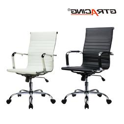High Back Office Computer Chair Swivel Leather Adjustable Er