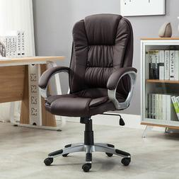 High brown PU Leather Executive Office Desk Task Computer bo