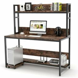 "Tribesigns Home 47/55"" Computer Desk with Hutch Bookshelf PC"