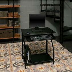 Home Black Stanton Computer Desk W/ Pullout Keyboard Tray &