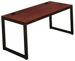 Home Office 55-Inch Large Computer Desk, Black/Cherry
