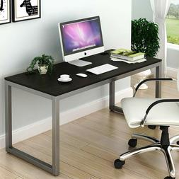 SHW Home Office 55-Inch Large Computer Desk, Espresso