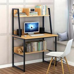 Computer Desk Small With Shelves Kids Study Laptop Table MDF