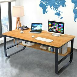 Wood Corner Computer Desk Laptop Writing Table Workstation H
