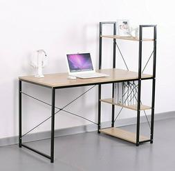 Home Office Computer Desk/Table ,4 Tier Shelves