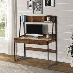Home office Computer Desk with Hutch Bookshelf  Desk with Sp
