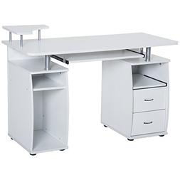 HomCom Home Office / Dorm Computer Desk w/ Elevated Shelf -
