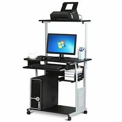 Yaheetech Home Office Mobile Compact Computer Desk with Keyb