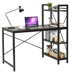Home Office Modern Computer Desk W/ 4-Tier Shelves PC Workst