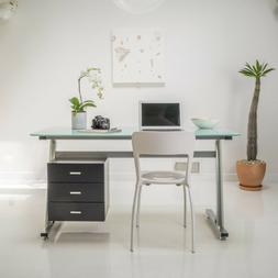 Home Office Student Computer Desk with Three Drawers Filing