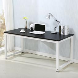 Home Office Wood Black Computer Desk PC Laptop Table Worksta