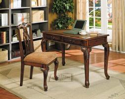 home office writing study computer wood table