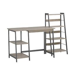Homestar 2-Piece Laptop Desk and 4-Shelf Bookcase Set, Recla