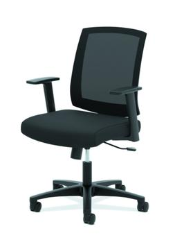 HON Torch Mesh Task Chair - Mid-Back Office Chair, Black