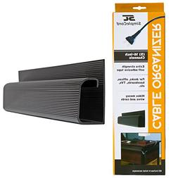 J Channel Cable Organizer by SimpleCord – 5 Black Raceway