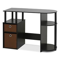 Furinno  Jaya Simplistic Computer Study Desk With Bin Drawer