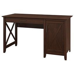 Bush Furniture Key West 54W Computer Desk with Storage in Bi