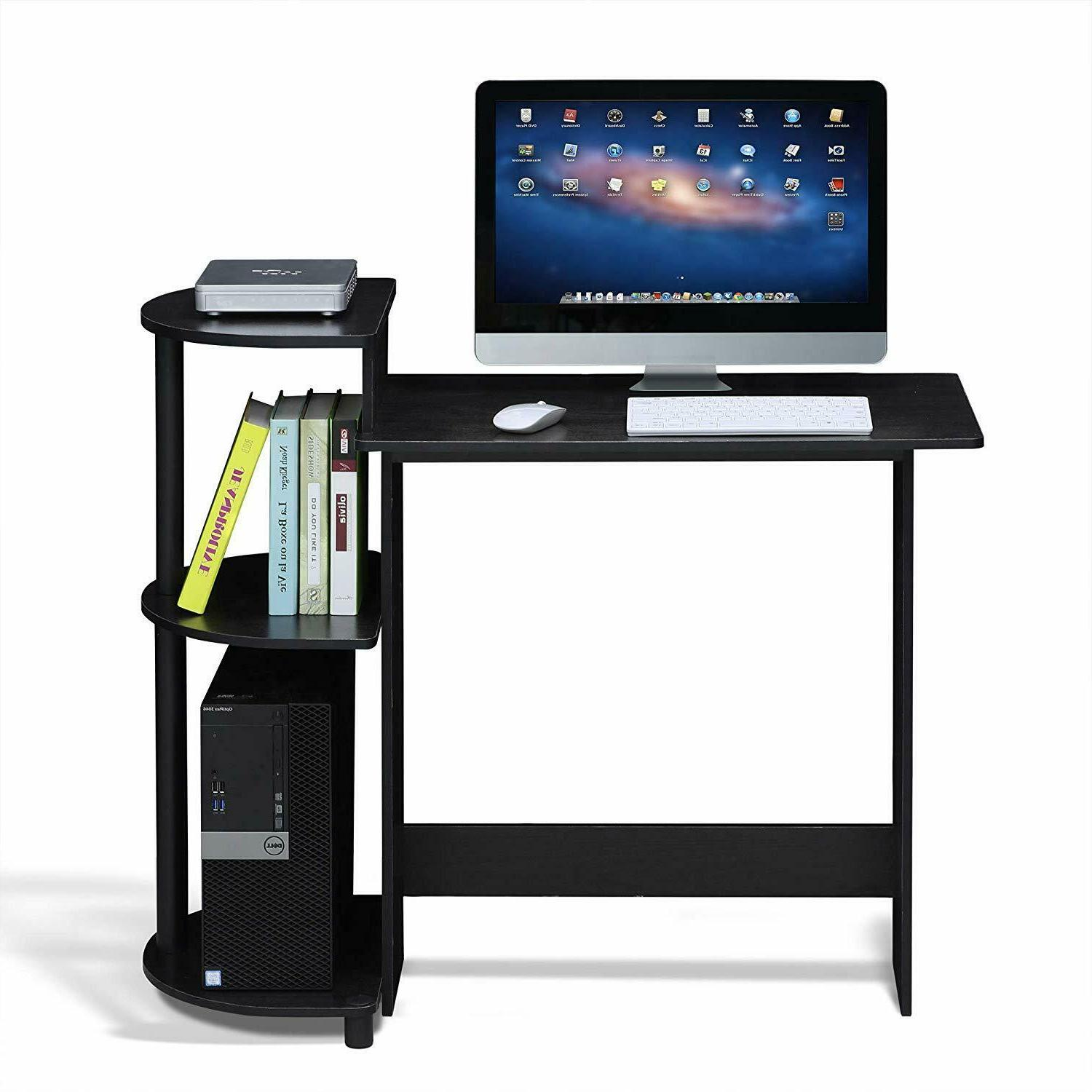 FURINNO Computer Desk with Improved Safety