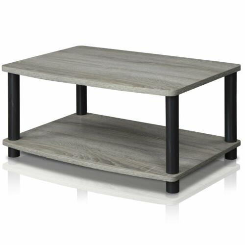 Elevated TV Stands, French Oak Grey/Black