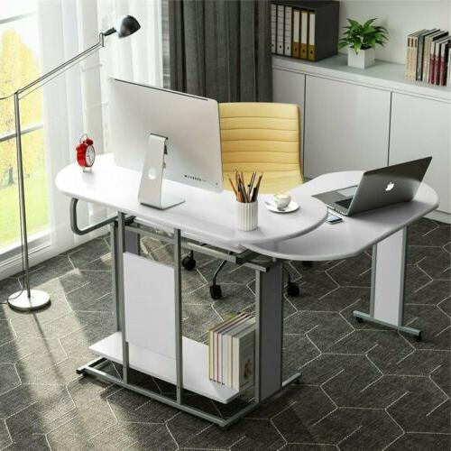Tribesigns 180 ° Rotating L-Shaped Corner Desk Computer Office Desk Furniture US
