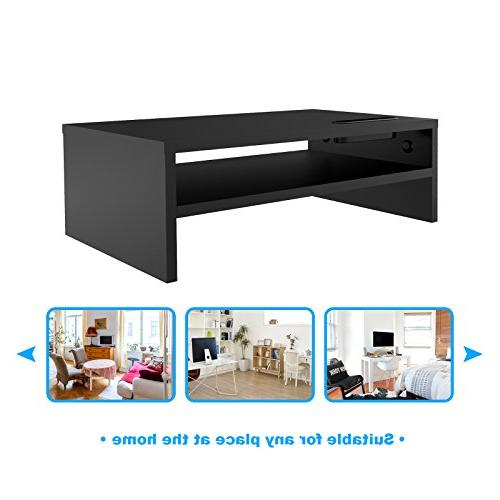 1homefurnit Universal Monitor Stands TV PC Laptop Computer Desk 16.7 inch with