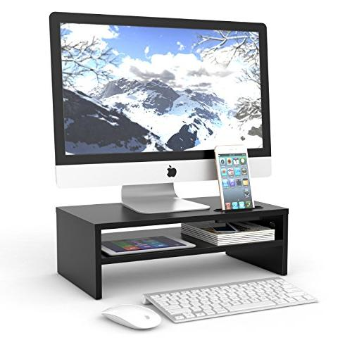 1homefurnit universal wood monitor stands