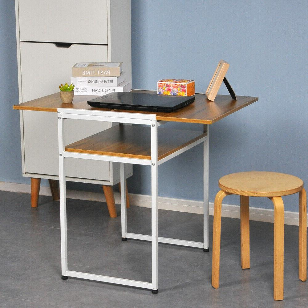 2-Tier Computer Dining Table Space Home Office
