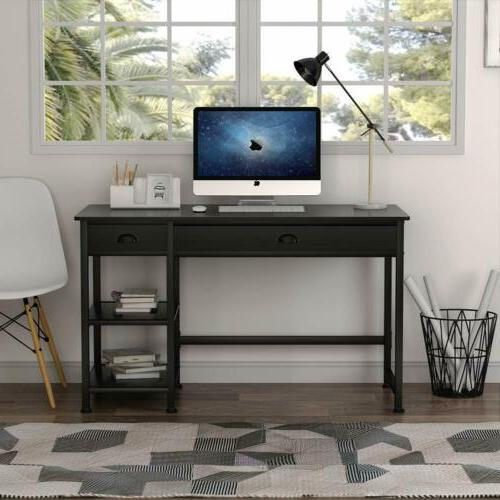 Tribesigns Rustic Lift Computer Desk with Drawers &Storage