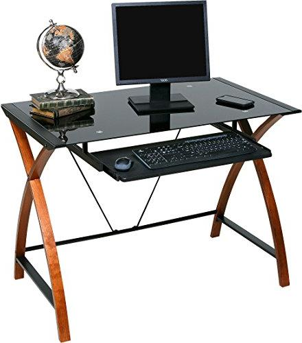 OneSpace Wood Computer Desk with Pullout Keyboard Tray