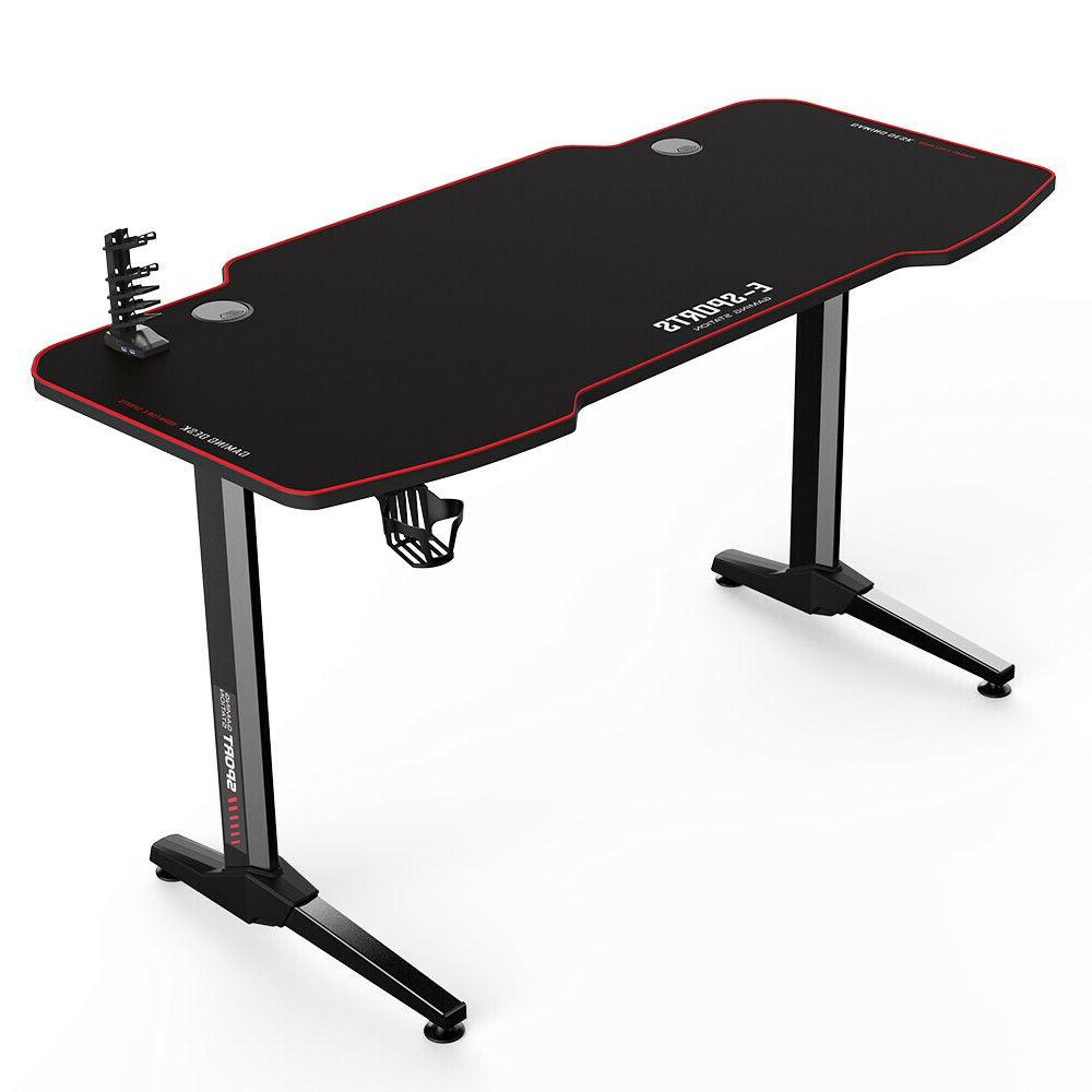 Gaming Computer Desk 55 inch Ergonomic PC Table Office Home