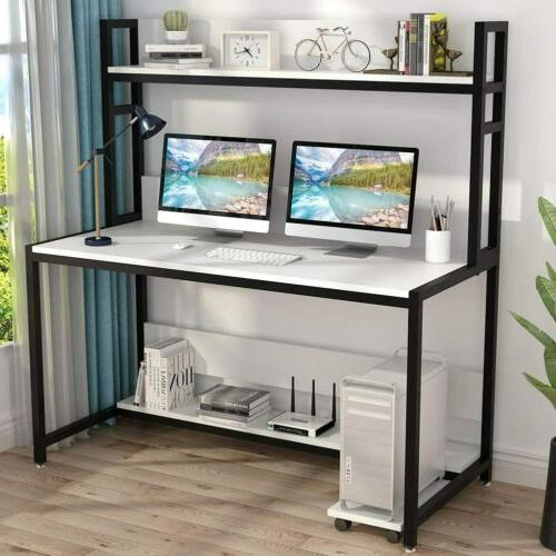 55 inches large computer desk with hutch