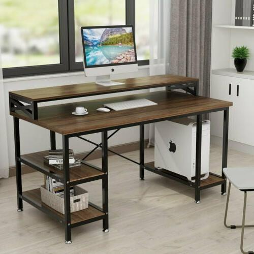 Tribesigns Computer Desk with Storage Shelves Home Office St