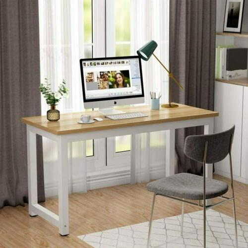 Tribesigns Computer Desk, 55 inch Large Office Desk Study Wr