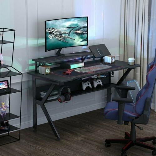 """Tribesigns Gaming Desk 47"""" E-Sports Computer Desk w/ Cup Hol"""