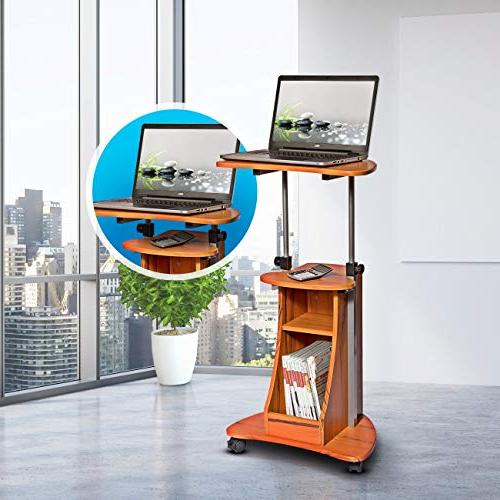Adjustable Height Cart With Color: