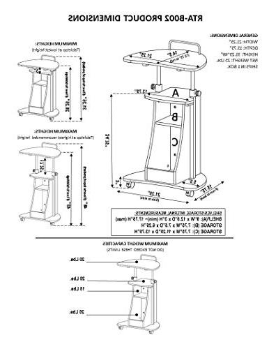 Adjustable Laptop Cart With