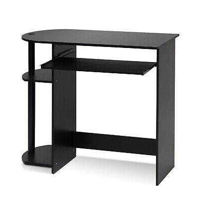 Furinno 14098R1EX/BK Easy Assembly Computer Desk, Espresso