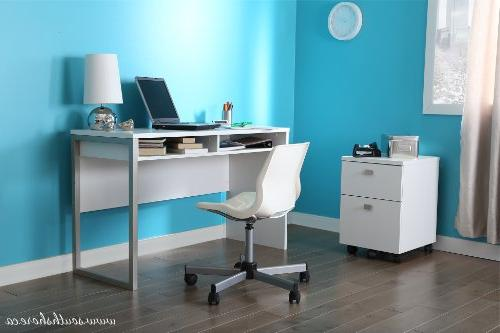 Interface Desk Metal Storage and Tablet - by South Shore