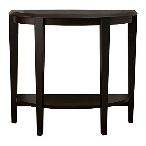 Monarch Specialties Cappuccino Hall Console Accent Table, 36