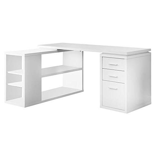Monarch Hollow-Core Left or Right Facing Desk, White