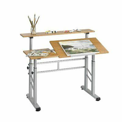 Safco Products 3965MO Split Level Drafting Table, Height-Adj