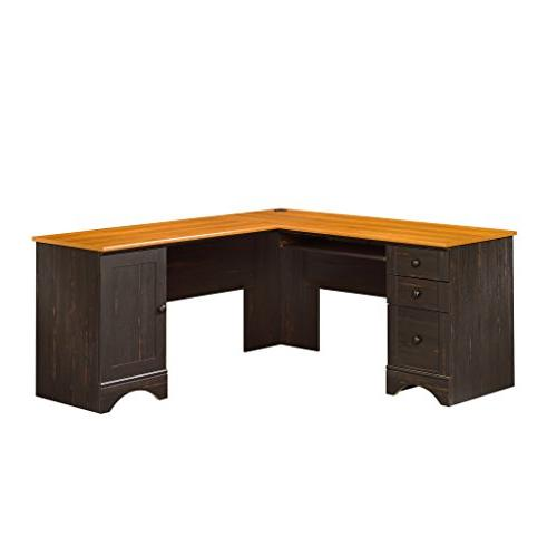 "Sauder 403794 Harbor View Corner Computer Desk, 66.14"" L x 6"