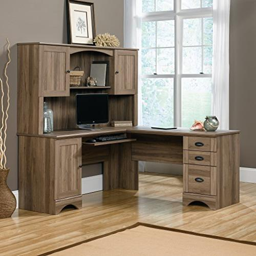 "Sauder 417586 View Computer L: x 66.14"" x H: Oak Finish"