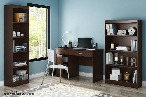 South Shore 7259070 Computer Desk with Chocolate